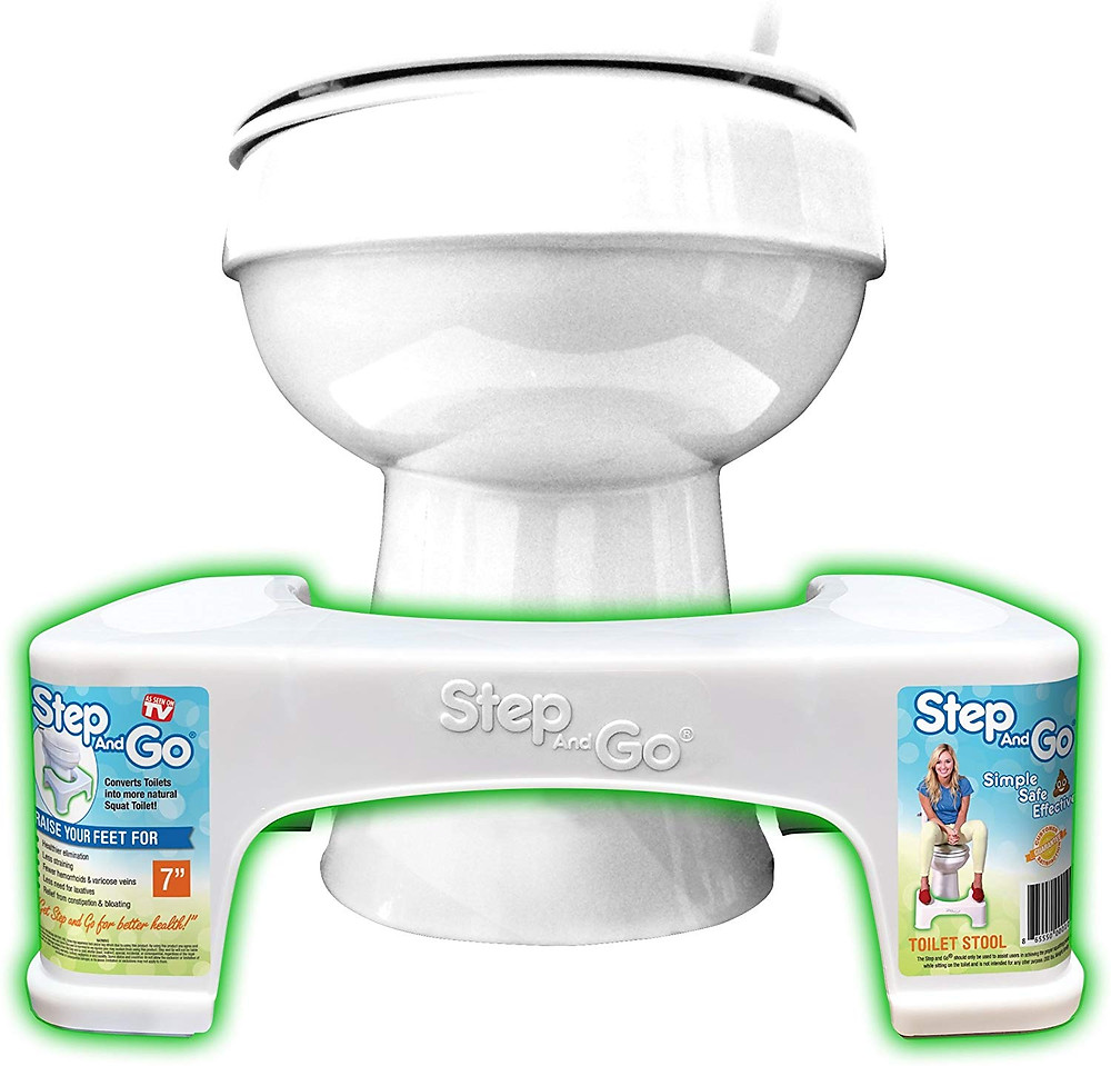 Step and go Toilet Stool 7""