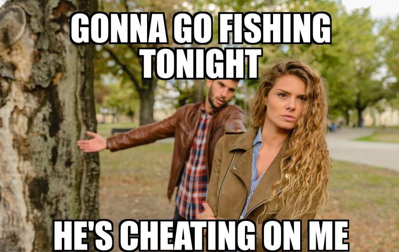 fisherman cheating wife meme