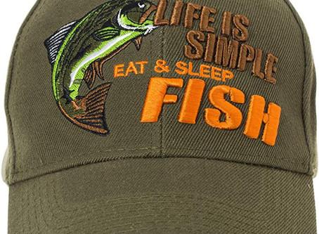 Eat,Sleep,Fish Life is Simple cap.