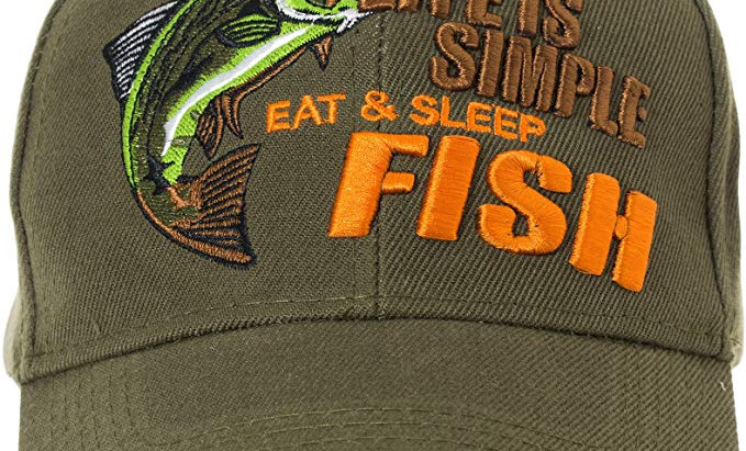 Eat,Sleep,Fish Life is Simple cap.