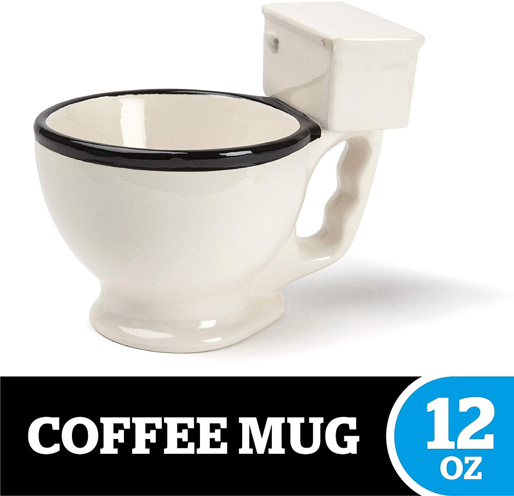 12 oz Ceramic Coffee Cup in the Shape of a Toilet