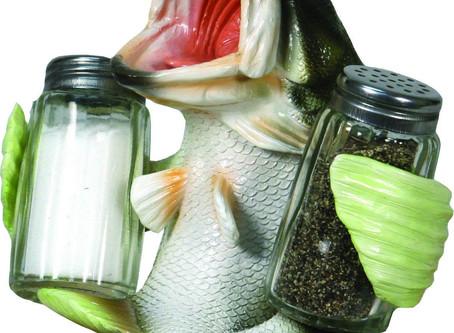 Largemouth Bass Salt and Pepper shaker.