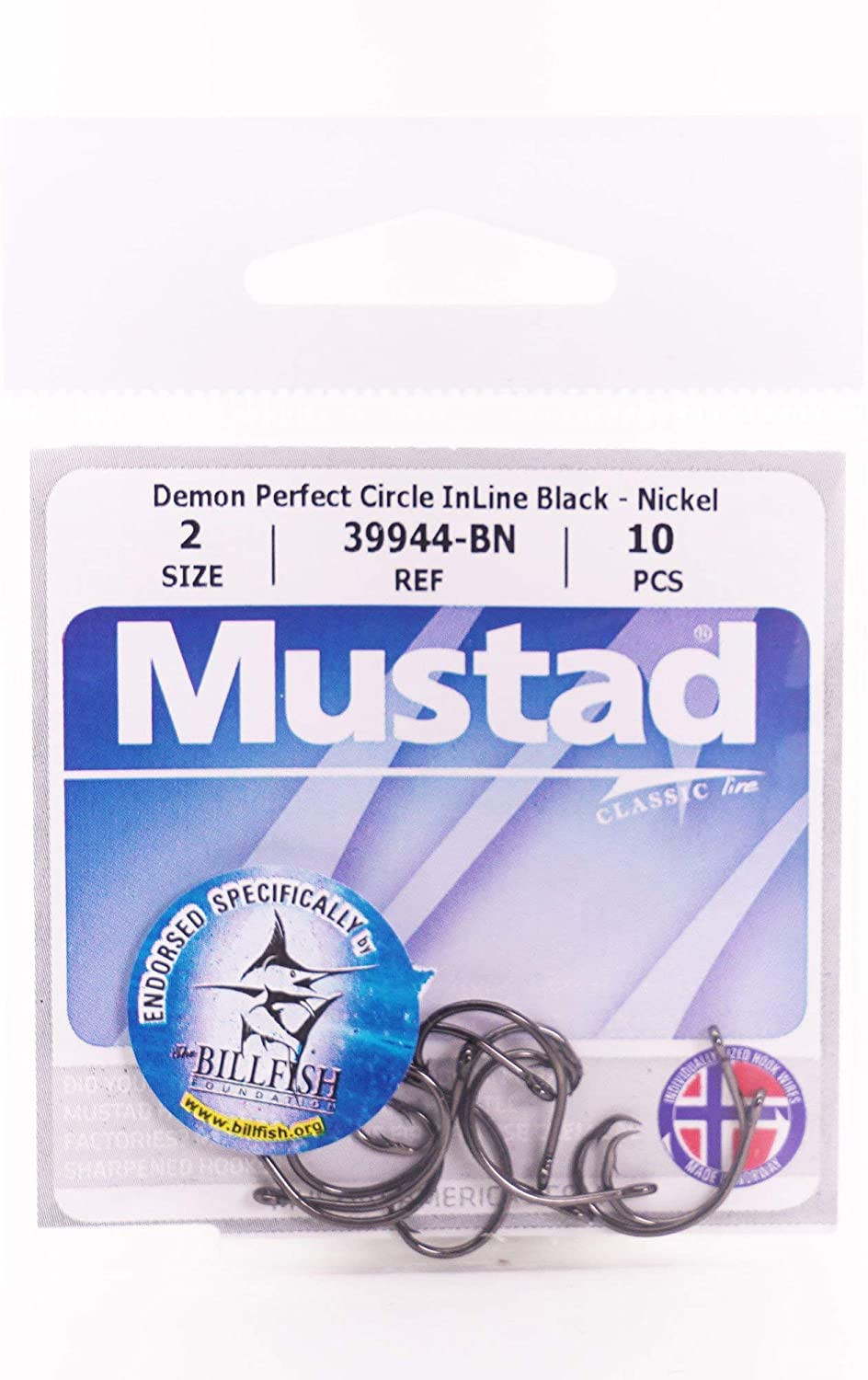 Mustad 3944-BN Demon perfect circle inline