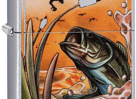 Bass fish Zippo lighter