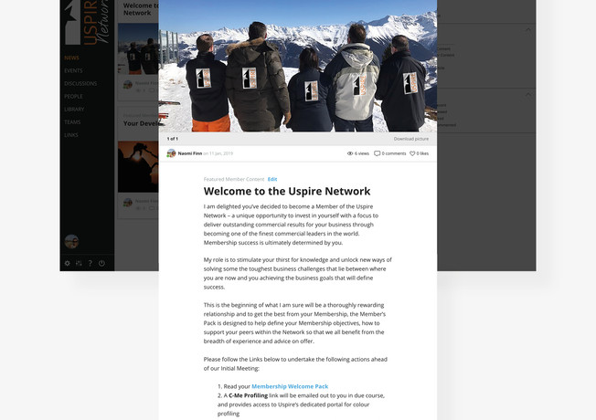 Welcome page with steps to get started on the platform