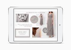Mink Grey bridesmaid trend on the Kaliko website