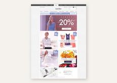 Summer sale promotion on the Kaliko homepage