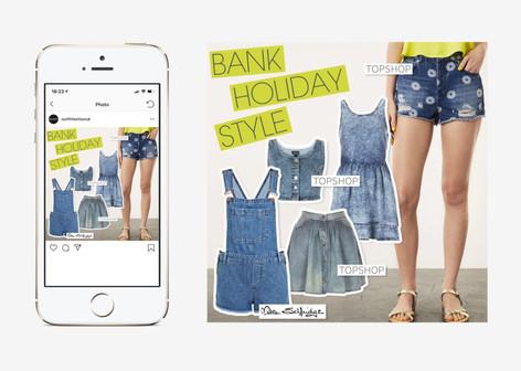 Bank holiday denim social media post design