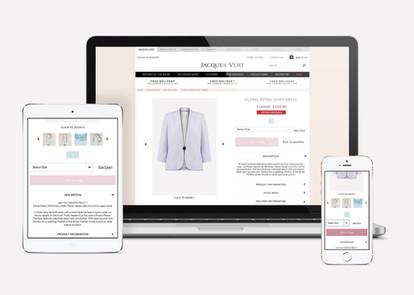 Product details page design across Desktop, tablet and mobile