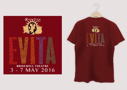 Cast promotional t-shirt design