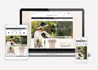 Jacques Vert launch homepage on desktop, tablet and mobile