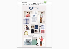 The wireframe trend page layout also inspired the layout for full size landing pages such as this Boston Crew menswear trend page