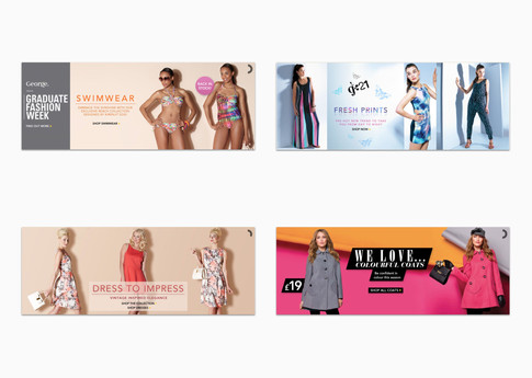 Collection and trend hero landing page banners