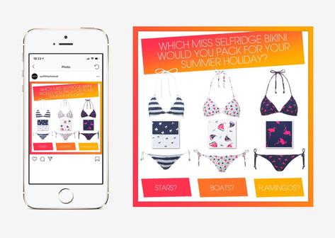 Bikini beach wear social media post design