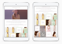 Wedding season bridesmaid trend landing page on the Kaliko website