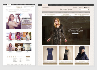 Precis Petite and Jacques Vert home page designs