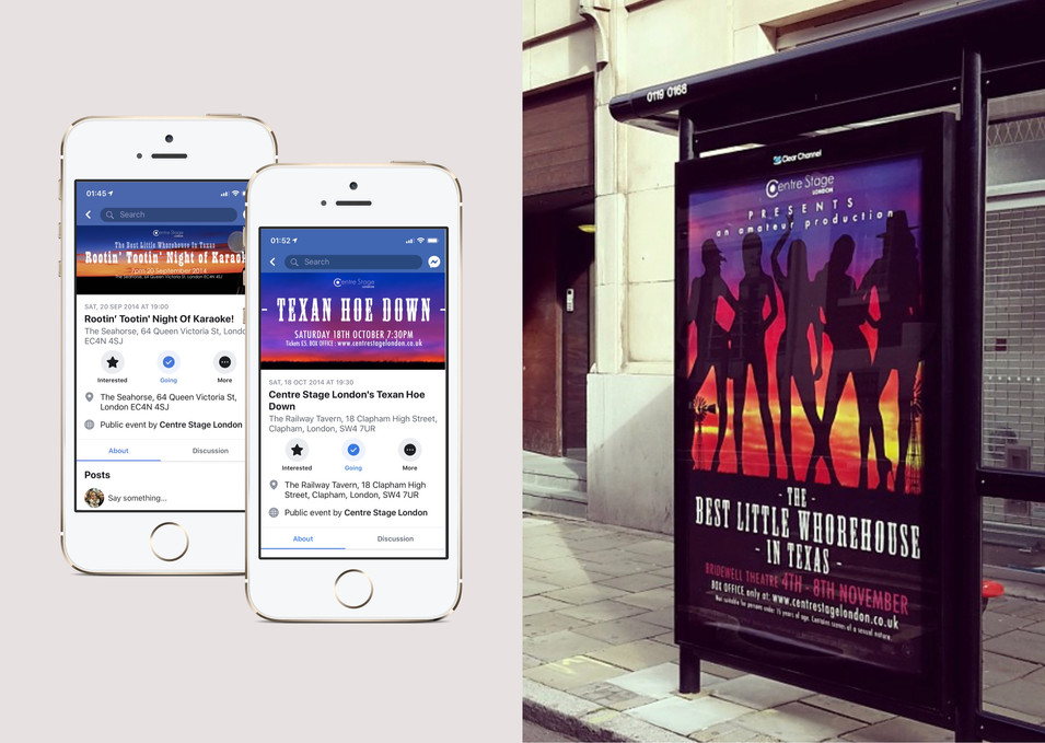 Cast marketing events and six sheet bus stop advertising