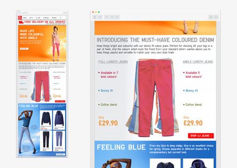 Uniqlo colour trend email