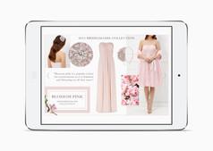 Blossom Pink bridesmaid trend on the Kaliko website