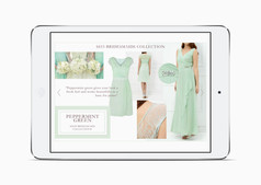 Peppermint Green bridesmaid trend on the Kaliko website