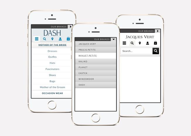 Product and brand navigation on mobile