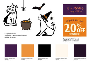Halloween Colours, type lockup and visual guide