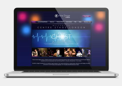 Web design on Centre Stage London's site