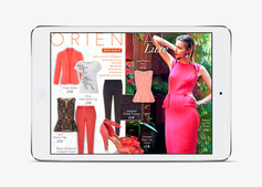 Example of the 'Oriental Luxe' Trend page, based on the wireframe layout