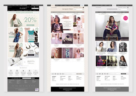 Home page designs for Planet, Jacques Vert and Windsmoor
