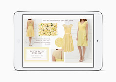 Buttercup Yellow bridesmaid trend on the Kaliko website