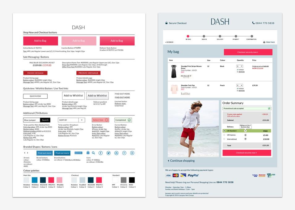 Dash digital guidelines