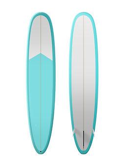 planche de surf bleu vif et blanc