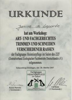 Workshop Trimmen und Schneiderassen