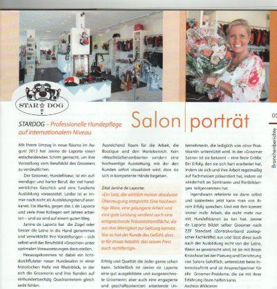 Artikel zur Saloneröffnung 2012