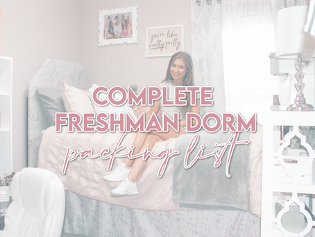 Freshman Dorm Packing List