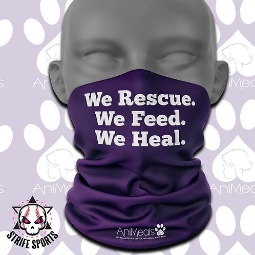 AniMeals Gaiter We Rescue We Feed We Heal