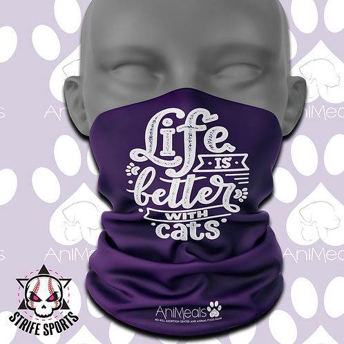 AniMeals Gaiter Life is better with Cats
