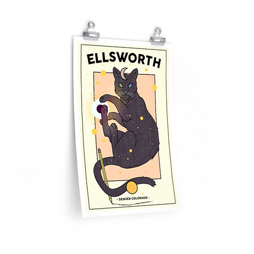 Ellsworth Cat Art Poster