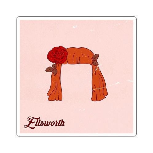 Ellsworth Pink Square Stickers