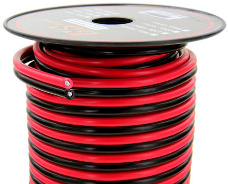 Red/Black Bonded CCA Wire (Options: 8 to 18 Ga; 50 to 200ft)
