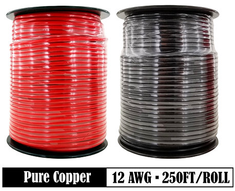 12 Ga  250ft Primary Wire (Options: Black & Red)