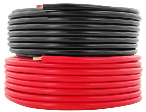 Pure Copper, Red & Black Combo (Option: 10-35 ft / 12, 14, 16, 18 AWG)