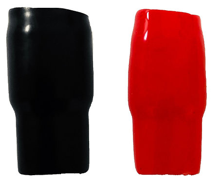 Vinyl Tube 10 pc (Options: 0 to 10 Ga;Red or Black)
