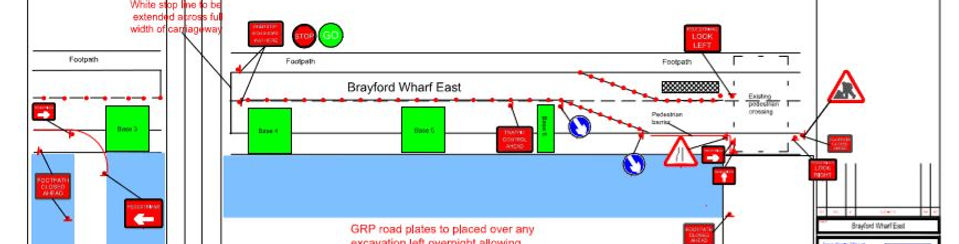 CAD drawing for roadworks in Lincoln