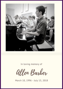 In Memory of Allen Barber
