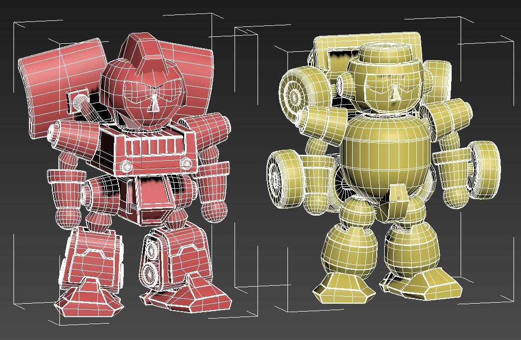 개발 캐릭터 초기 3D 테스트모델링