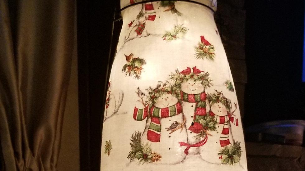 Large  Christmas Cheyenne  Lanterns w/string lights