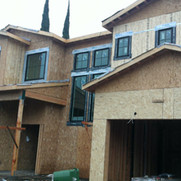 Exterior painting on new construction