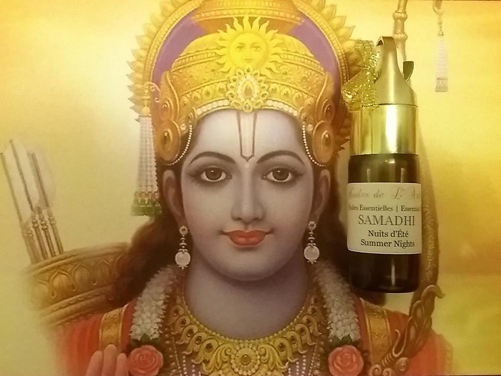 Rama et ses flèches d'Action - Et le parfum artisanal de l'ashram Samadhi, pour s'en rapprocher un peu...