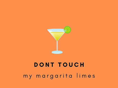 DONT TOUCH MY MARGARITA LIMES PACK OF 8 POSTCARDS